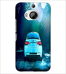 PrintDhaba Car D-2838 Back Case Cover for HTC ONE M9 PLUS (Multi-Coloured)
