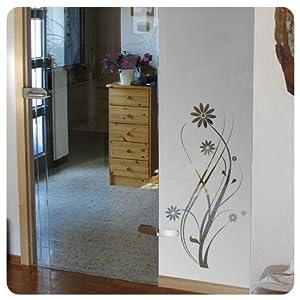 dekorfolie f r glast ren und fenster floral t rfolie sonnenschutz. Black Bedroom Furniture Sets. Home Design Ideas