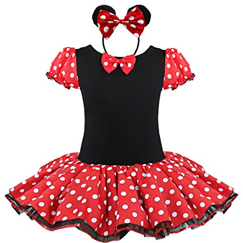 YiZYiF Baby Girls Minnie Mouse Christmas Party Halloween Tutu Dress Up Headband