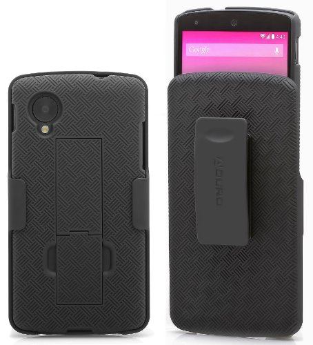 Aduro Shell Holster Combo Case for Google LG Nexus 5 with Kick-Stand & Belt Clip (AT&T, Verizon, T-Mobile, US Cellular & Sprint)