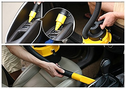 12 volt portable wet and dry car vacuum cleaner with multi attachments to get any spots and. Black Bedroom Furniture Sets. Home Design Ideas