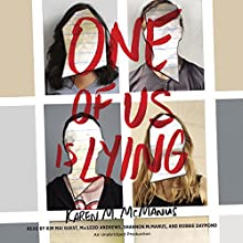 One of Us Is Lying Audiobook by Karen M. McManus Narrated by Kim Mai Guest, MacLeod Andrews, Shannon McManus, Robbie Daymond