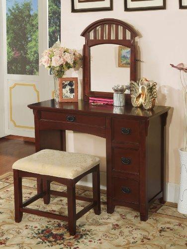 William's Home Furnishing Cherry Vanity