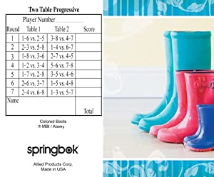 Boots Bridge Tallies (12 Pack) - 2 And 3 Table Progressive