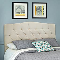 Barton Full/Queen Cotton Headboard (Beige)