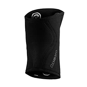 Rehband Rx Knee Support - 5mm - Carbon Black - Large - 1 Sleeve (Color: Carbon Black, Tamaño: Large)