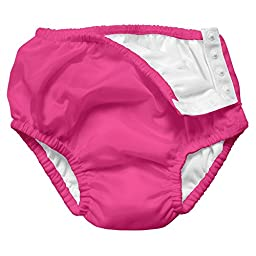 i play. Baby Snap Reusable Absorbent Swim Diaper, Hot Pink, 24 Months