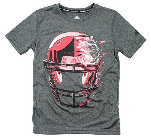 Adidas Youth Big Boys Football Shirt (X-Large (18), Gray/Red)