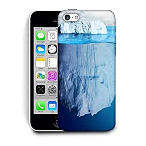 Snoogg Blue Sea With White Mountain Printed Protective Phone Back Case Cover For Apple Iphone 5C