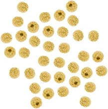 Beadaholique Stardust Sparkle Round Beads 3mm 22K Gold Plated