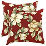 Greendale Home Fashions Indoor/Outdoor Accent Pillows, Roma Floral, Set of 2