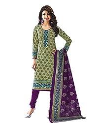 Aarvi Women's Cotton Unstiched Dress Material Multicolor -CV00049