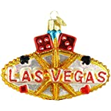 Old World Christmas Las Vegas Sign Glass Ornament