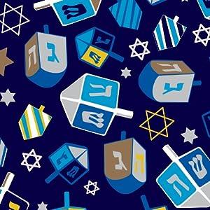 Jillson Roberts Hanukkah Recycled Gift Wrap, Hanukkah Spin, 6 Roll Count (XR712)