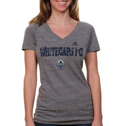 adidas Vancouver Whitecaps FC Ladies Tri-Blend V-Neck T-Shirt - Ash
