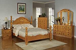 bedroom collection honey oak finish ponderosa 5 piece set bedroom