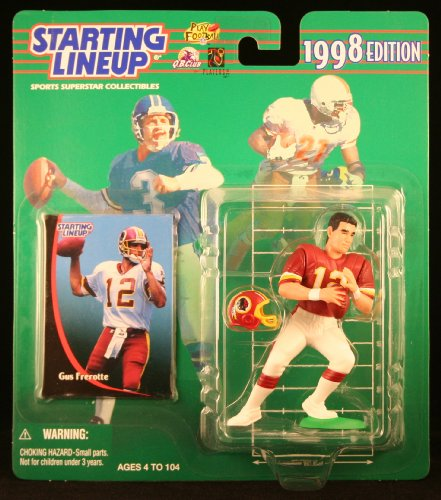 GUS FREROTTE / WASHINGTON REDSKINS 1998 NFL Starting Lineup Action Figure & Exclusive NFL Collector Trading Card