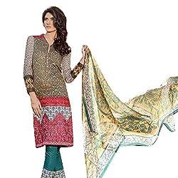 Pure Cotton Lawn suit with Silk Dupatta
