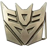 BeltsBucklesTees Transformers Decepticons Belt Buckle with a Metal Finish