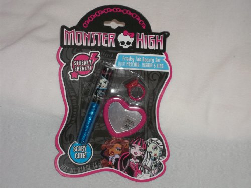 Monster High Freaky Fab Beauty Set Hair Mascara, Mirror & Ring