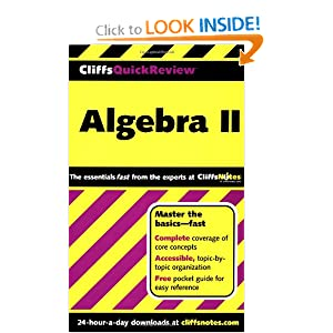 CliffsQuickReview Algebra II Edward Kohn and David Alan Herzog
