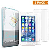 iPhone 6 Plus Screen Protector, Enther 2 PACK [Retina Sense] Tempered Glass Premium High Definition Shockproof Clear Screen Protector 0.3mm Thickness 2.5D Curved Edge for iPhone 6 6s Plus