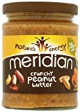 Meridian Natural Crunchy Peanut Butter - No Added Sugar and Salt 280 g (Pack of 6)