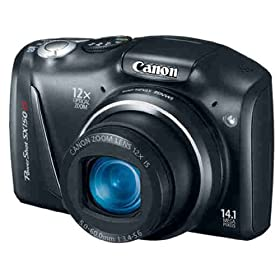(清仓)佳能Canon PowerShot SX150 IS 1410万像素 12倍光变 28mm广角,$147