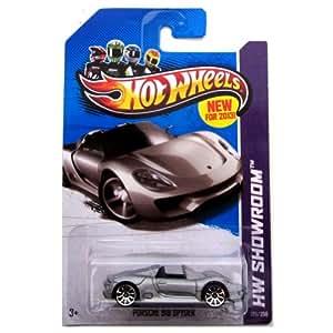 porsche 918 spyder 39 13 hot wheels 175 250 silver vehicle toys games. Black Bedroom Furniture Sets. Home Design Ideas