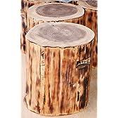 四万十発 国産材 丸太の椅子 焼き、防水無色塗装仕上げS規格 直径約23cm 檜