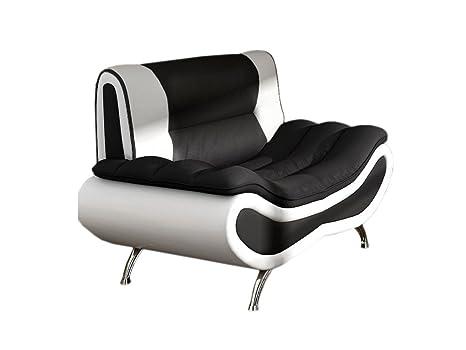 Polstersessel Einzelsofa Peso, Lounge Sessel vom Hersteller, Polstermöbel, Modern Relaxsessel Kunstleder 4-Farben, Sofagarnitur, Couchgarnitur (D511 + D8)