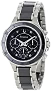 Bulova Womens 98P126 Substantial Ceramic and Stainless-Steel
