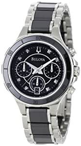 Bulova Women's 98P126 Substantial Ceramic and Stainless-Steel Construction Watch