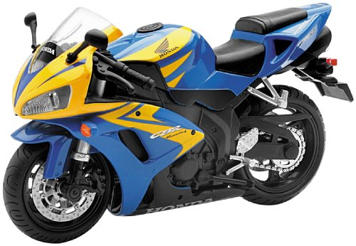New Ray Toys Street Bike 1:12 Scale Motorcycle Honda CBR1000 Blue/Yellow