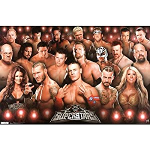 (22x34) WWE Superstars Wrestling Sports Poster Print Sports Poster Print, 22x34