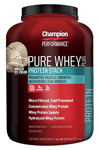 Champion Performance, Pure Whey Plus, Vanilla Ice Cream flavor, 4.8 lbs (On Whey Protein Vanilla Ice Cream compare prices)