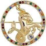 Capricorn Star Sign / Zodiac Jewellery Brooch