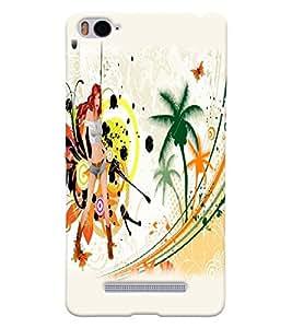Fuson Style Girl Back Case Cover for XIAOMI Mi4i - D3648
