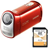 Samsung HMX-T10 Orange Full HD Camcorder with 4 GB SDHC Card, 10x Optical Zoom and 2.7-Inch LCD Screen (HMX-T10ON/XAA)