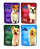 Blue Buffalo Divine Delights Wet Dog Food Variety Pack - 4 Flavors (Duck, Lamb, Chicken, and Beef) - 3oz Each (4 Total Pouches)