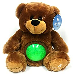 Calm Down Companion - Tranquil Teddy - {Green} - Plush Stuffed Animal Bear with Glitter Ball to Relax and Soothe Children through Sensory Therapy Methods