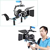 Neewer® Professional DSLR Rig Set Movie Kit Film Making System, include Follow Focus;Matte Box; C-shaped Bracket and Top Handle for All DSLR Cameras and Video Camcorders