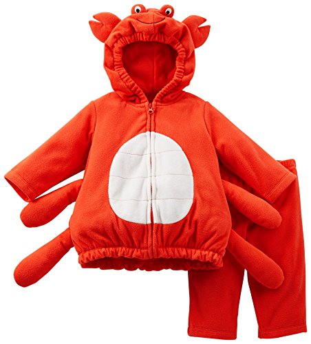 Carters Baby Boys Fleece Crab Halloween Costume 9 Month Red front-1039476