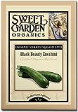 Black Beauty Zucchini - Certified Organic Heirloom Seeds