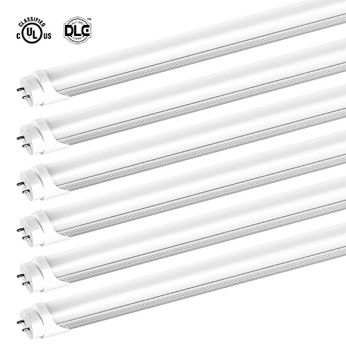 SHINE HAI T8 LED Tube Light, 4ft, Dual-End Powered, G13, Works with and without T8 ballast, 22W (48W Equivalent),5000K Daylight White, Instant On, UL-Listed & DLC-Qualified, (Led Tube)