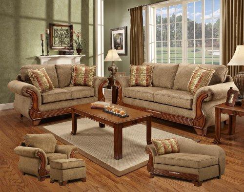 Chelsea Home Verona IV 5 Piece Set – Shannen Sofa, Shannen Loveseat, Shannen Chair, Shannen Ottoman & Shannen Chaise 840