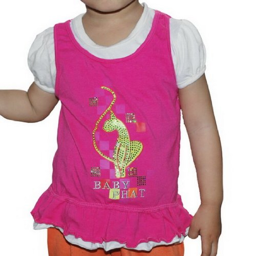 Baby Phat Toddler Girls Clothes Casual Layered T Shirt Top (Size:m/18)
