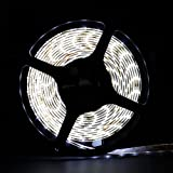 SUPERNIGHT (TM) 16.4 Ft Waterproof 300 SMD LED Flexible Strip with DC 12V Cool White LED Ribbon 5 Meter Reel