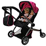 Babyboo Deluxe Twin Doll Pram/Stroller with Free Carriage (Multi Function...