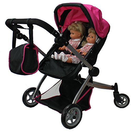 Babyboo Deluxe Twin Doll Pram/Stroller With Free Carriage (Multi Function View All Photos) - 9651A front-741091